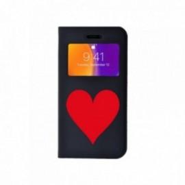 Etui Iphone X Folio vision motif Coeur