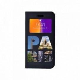 Etui Iphone X Folio vision motif Paris