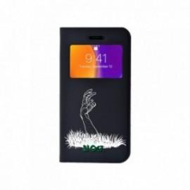 Etui Iphone 5/5S/SE Folio vision motif Zombie