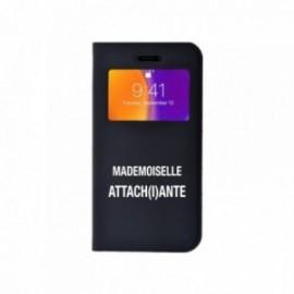 Etui Iphone 5/5S/SE Folio vision motif Mademoiselle Attachiante