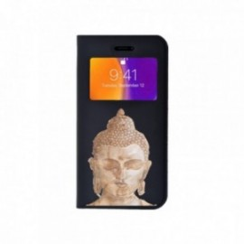 Etui Iphone 5/5S/SE Folio vision motif Buddha