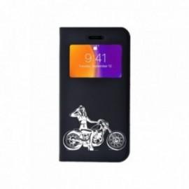 Etui Iphone 6 Plus / 6S Plus Folio vision motif Motarde Se6 Plus / 6S Plusy