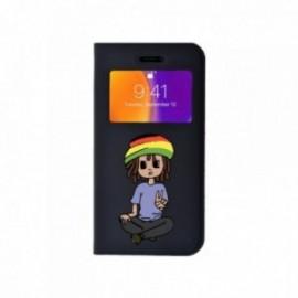 Etui Iphone 6 Plus / 6S Plus Folio vision motif Rasta