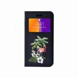Etui Iphone 6 Plus / 6S Plus Folio vision motif Flamant tropical