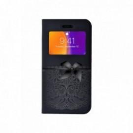 Etui Iphone 6 Plus / 6S Plus Folio vision motif Noeud dentelle