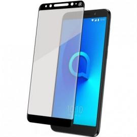 Protège-écran Alcatel 3X 5058 en verre trempé contour noir