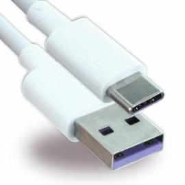 Câble Data Huawei type C High speed d'origine constructeur blanc