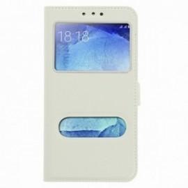Etui Huawei Mate 10 lite folio double fenêtre blanc