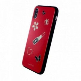 Coque iPhone X / XS Guess Iconic rouge