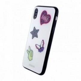 Coque iPhone X / XS Guess Iconic blanc