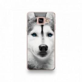 Coque Alcatel Pixi 4 6'' motif Husky aux Yeux Bleus
