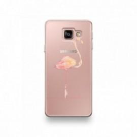 Coque LG G7 motif Flamant Rose Pastel Géométrique
