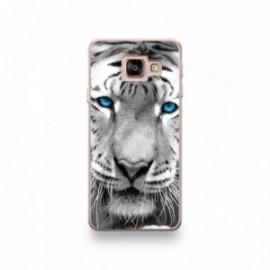 Coque LG G7 motif Tigre aux Yeux Bleus