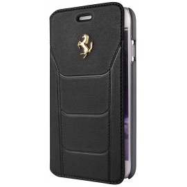 Etui iphone 6 / 6s folio Ferrari cuir noir