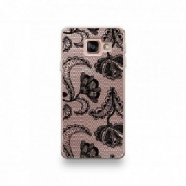 Coque Huawei Honor 10 motif Dentelle Fleurs Noire