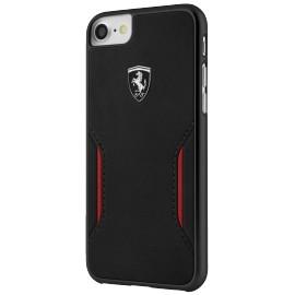 Coque iphone 8 Ferrari Heritage Legend cuir noir