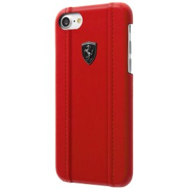 Coque iphone 8 Ferrari rouge logo noir