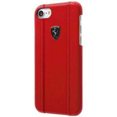 Coque iphone 8 Ferrari rouge logo noir