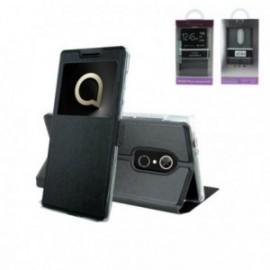 Etui Alcatel 5 folio stand fenêtre noir