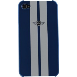 Coque iPhone 4/4S Mini racing bleue et blanche