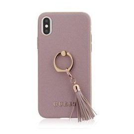 Coque Iphone X Guess Saffiano ring rose
