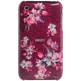 Coque iPhone 3G/3GS Nadir rouge à motif fleuri rose