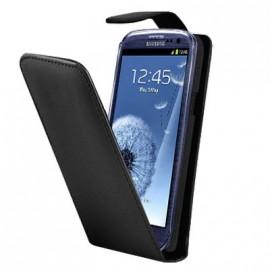 Etui Samsung Galaxy S3 i9300 noir simili cuir