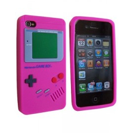 Coque iphone 4 Game boy rose