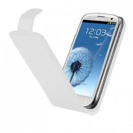 Etui Samsung Galaxy S3 i9300 blanc simili cuir