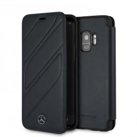 Etui Samsung S9 Mercedes Benz New Organic I Folio cuir noir