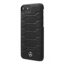 Coque iphone 8 Mercedes Benz Pattern I cuir noir