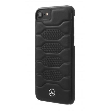 Coque iphone 8 Mercedes Benz Pattern I cuir noir