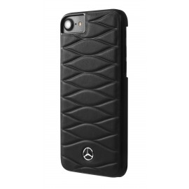 Coque iphone 8 Mercedes Benz Pattern III cuir noir