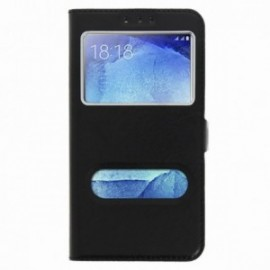 Etui Xiaomi Redmi 5 Folio double fenêtre noir