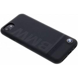 Coque iphone 8 BMW Signature cuir noir