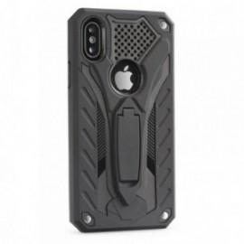 Coque Iphone 5/5s/se renforçée stand anti choc noire