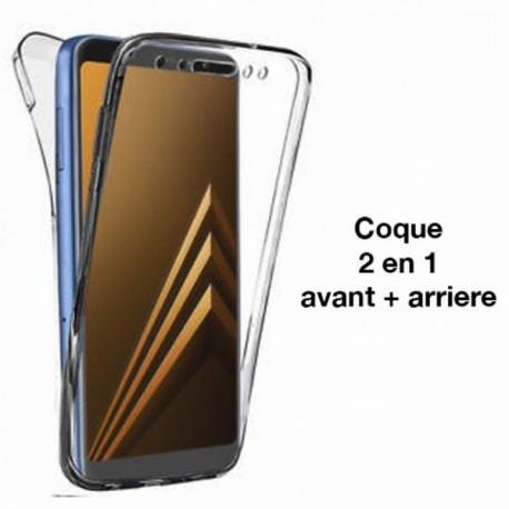 COQUE Samsung A6 PLUS 2018 intégrale avant & arrière transparente
