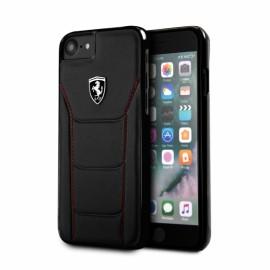 Coque iphone 7 Ferrari cuir noir