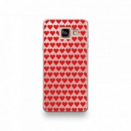 Coque Wiko Tommy 3 motif Coeurs Rouge