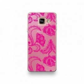 Coque Wiko Tommy 3 motif Dentelle Rose