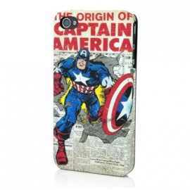 Coque iphone 4 / 4S Captain America Newspaper
