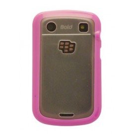 Coque Blackberry bold 9900 rose et transparente