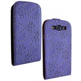 Etui Galaxy S3 i9300 violet strass diamant