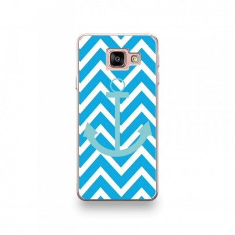 Coque Echo Surf motif Bleu Ciel Sur Fond Bleu Turquoise