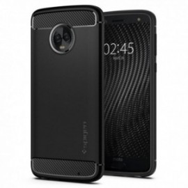Coque Motorola G6 Plus Spigen Rugged Armor noir