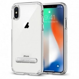 Coque iPhone X Spigen Liquid Crystal Aquarelle transparent