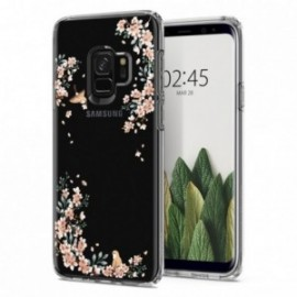 Coque Galaxy S9 Spigen Liquid Crystal Blossom sable