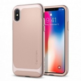 Coque iPhone X Spigen Neo Hybrid rose