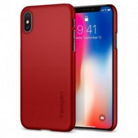 Coque iPhone X Spigen Thin Fit rouge