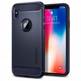 Coque iPhone X Spigen Rugged Armor bleu
